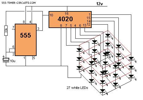 xx led cube circuit
