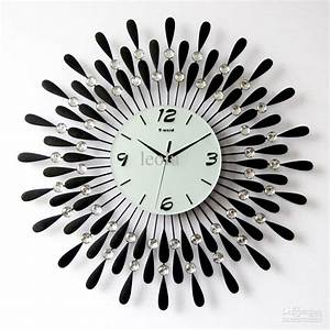 using oversized wall clocks to decorate your home With best brand of paint for kitchen cabinets with modern art wall clocks