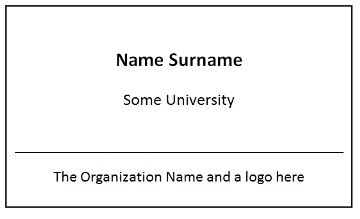 Event Name Tag Template by Templates Automating The Creation Of Name Badges For An