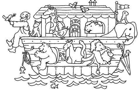 noahs ark coloring page childrens library pinterest