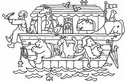 Ark Noah Coloring Pages Noahs Clipart Lds