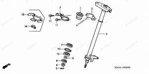 Honda Atv 2005 Oem Parts Diagram For Steering Shaft