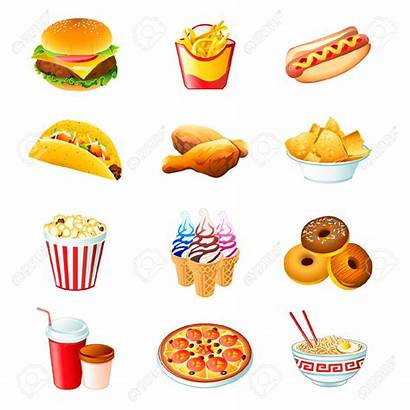 Fast Junk Clipart Icons Vector Processed Colorful
