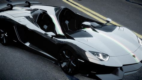 Black Cars Lamborghini Aventador Exotic Side J Wallpaper