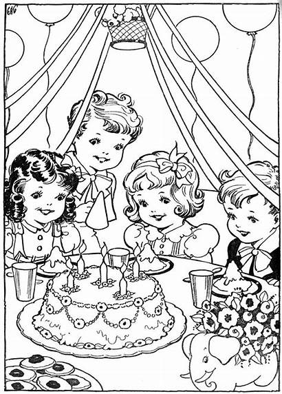 Coloring Pages Fun Birthday Colouring Party Books