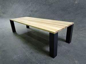 Table Bois Metal Extensible : table artisanale fabriqu e en france artmeta mobilier sur mesure ~ Teatrodelosmanantiales.com Idées de Décoration