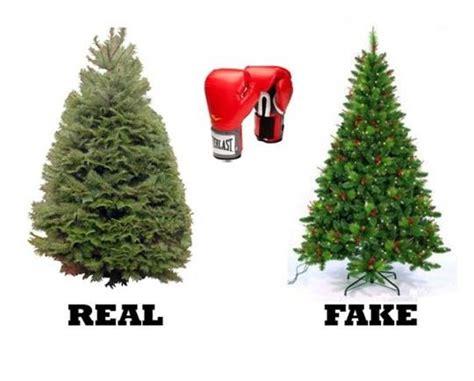 real vs artificial christmas tree