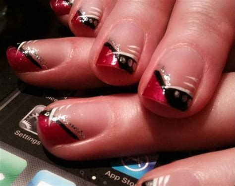Red White And Pink Nail Styles For Prom