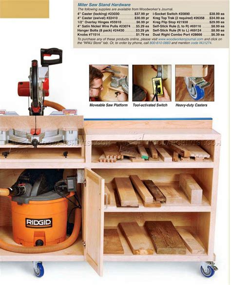 portable folding table miter saw stand plans woodarchivist