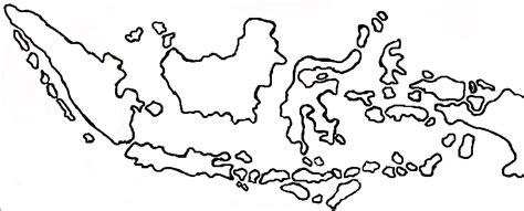 Gambar Peta Indonesia Hitam Putih Sketch Coloring Page