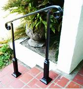 Outdoor Metal Handrails For Stairs by 4 FT Wrought Iron Handrail Step Rail Stair Rail With