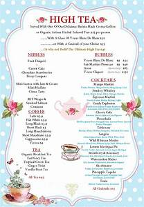 afternoon tea menu template17 best images about tea room With afternoon tea menu template