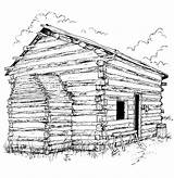Coloring Cabin Log Lincoln Clipart Colouring Adults Sheet Clip Popular Library Bing Hut sketch template