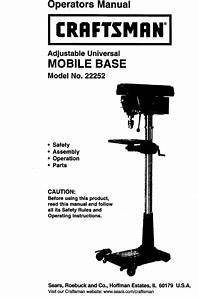 Craftsman 22252 User Manual Adjustable Universal Mobile