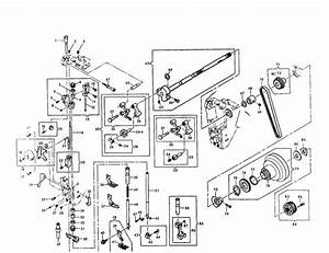 Singer 401 Type Hook Sewing Machine Parts Diagram
