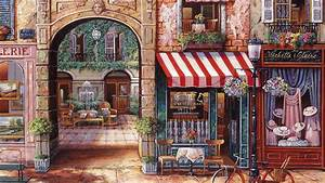 Paris Street Cafe Paintings | www.pixshark.com - Images ...