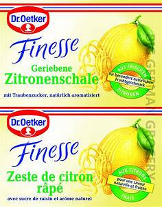 Dr Oetker Logo : dr oetker finesse grated lemon peel with dextrose big german grocery ~ Eleganceandgraceweddings.com Haus und Dekorationen