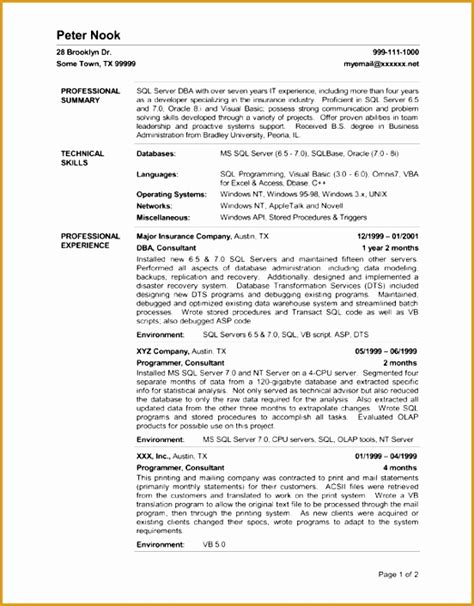 Resume With Server Experience by 5 Server Experience Resume Free Sles Exles