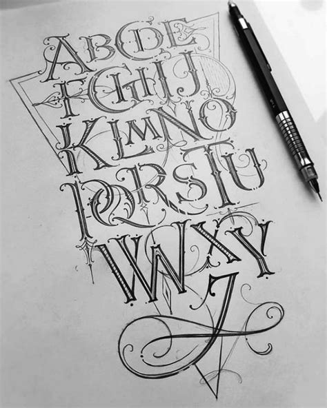 calligraphy alphabets  writing styles  beginners