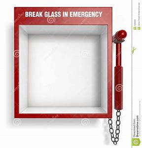 Break Glass In Emergency Stock Images