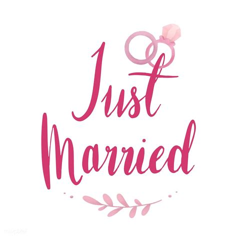 married typography vector  pink  image