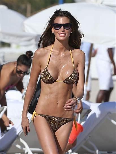 Claudia Galanti Bikini Miami Beach Leopard Gotceleb