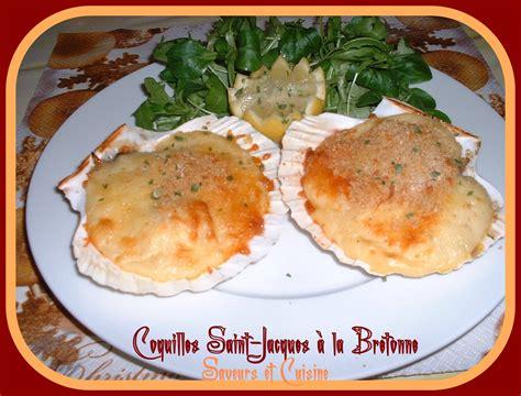 cuisiner des coquilles st jacques coquille jacques à la bretonne blogs de cuisine