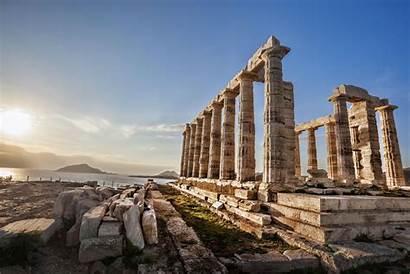 Sounion Greece Temple Poseidon Greek Capo Cape