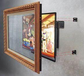 Fernseher An Wand Montieren : holz bilderrahmen an der wand mit falachbild tv montieren ~ A.2002-acura-tl-radio.info Haus und Dekorationen