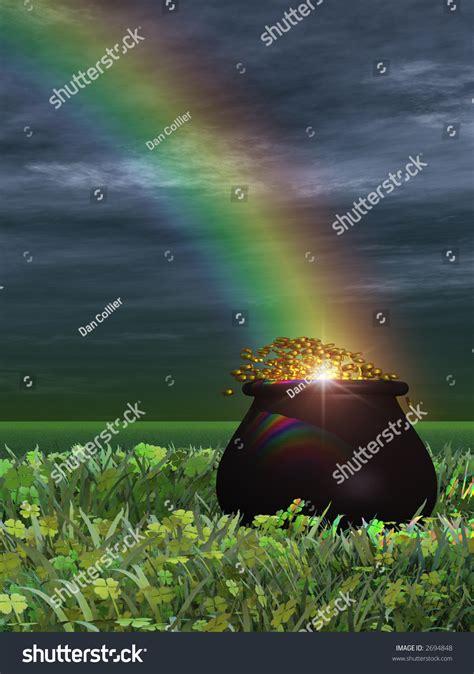 pot gold  rainbow stock illustration  shutterstock