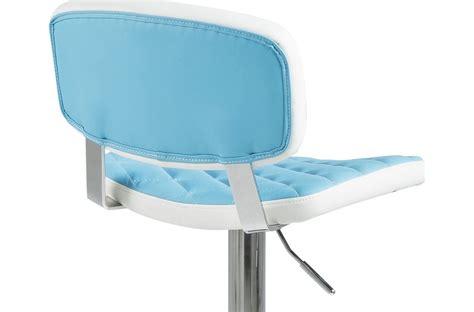 canapé cuir fabrication allemande lot de 2 tabourets design en simili cuir bleu et blanc