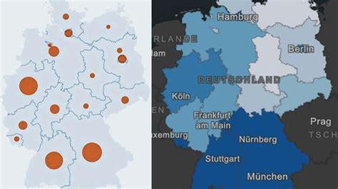 Welche städte und kreise sind wie stark vom coronavirus betroffen? Corona-News: Deutschland-Karte mit aktuellen Zahlen zu Toten und Infizierten | WELT