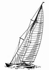Boat Coloring Sailing Pages Printable sketch template