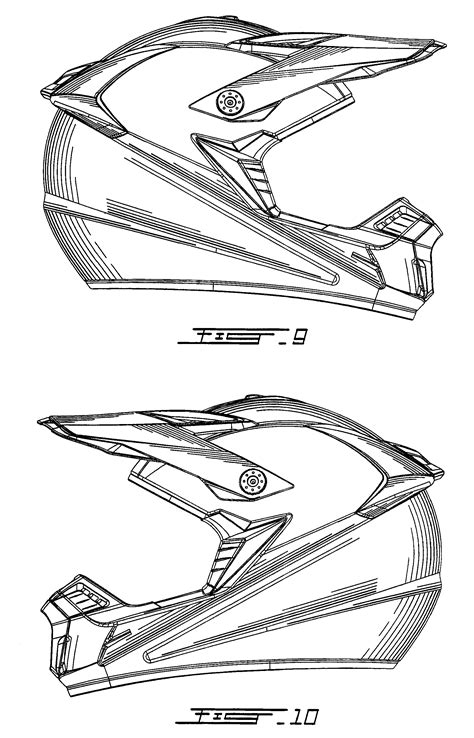 Free Coloring Pages Of A Bike Helmet
