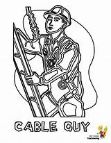Coloring Construction Pages Cable Guy Welder Gritty Worker Template Boys Yescoloring Templates sketch template