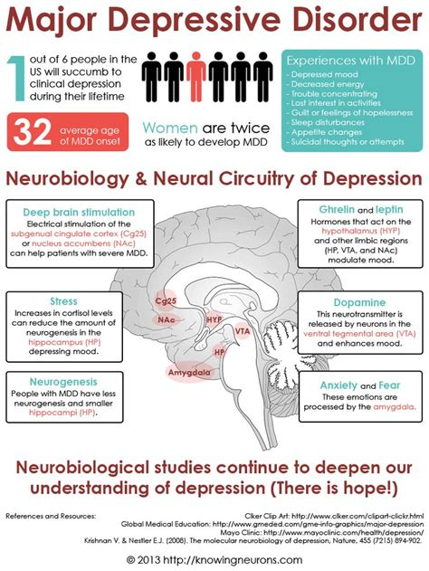 Depression Disorders This Infographic Explores The Neurological Basis Of Major