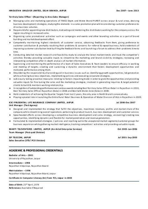 fmcg resume sle resume photos of sales executive