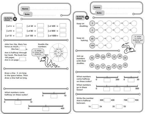 Math Homework Sheets