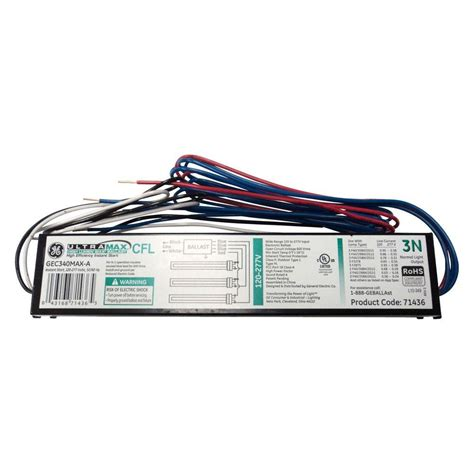 Ge Electronic Ballast For 3lamp Compact Fluorescent Light