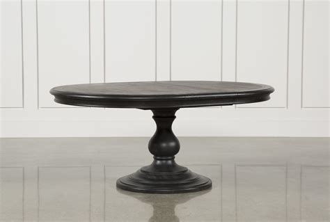 circle farmhouse table caira black dining table living spaces 2210