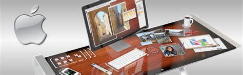 bureau apple idesk un bureau tactile pour les machines apple