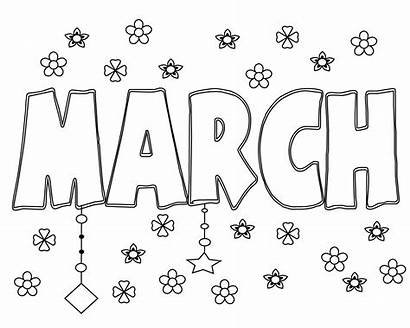Coloring March Printable Sheets Toddlers Preschoolers Printables