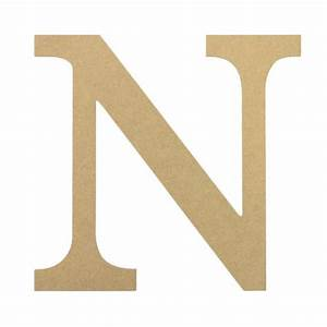 10quot decorative wood letter n ab2038 craftoutletcom for Wooden letter n