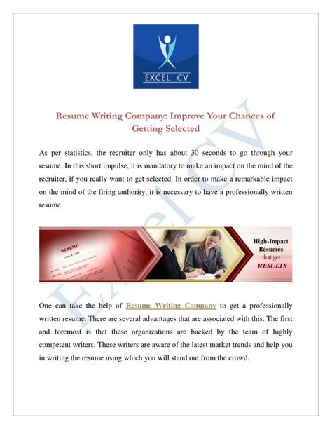 Resume Writing Companies ppt resume writing company improve your chances of