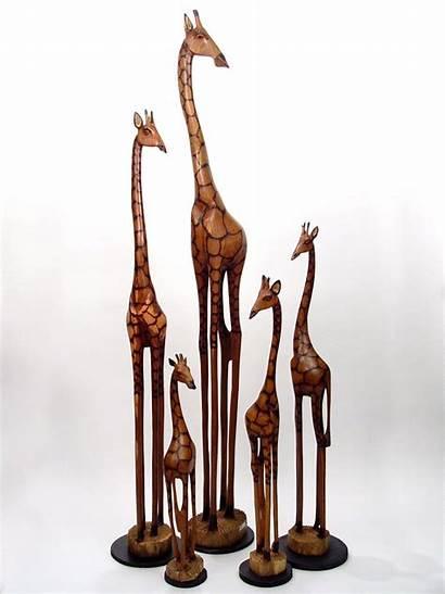 Giraffe Wood Wooden Hand Zimbabwe Carved Sculpture