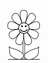 Flower Coloring Pages Flowers Printable Easy Sheets Preschool Cartoon Getcoloringpages sketch template