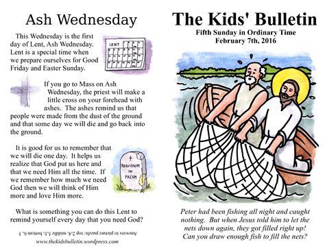 the bulletin for sunday february 7th 2016 the 684 | the kids bulletin 5th sunday