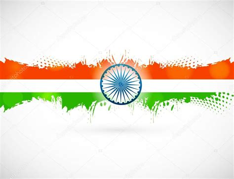 Indian flag with grunge texture for Independence Day ...