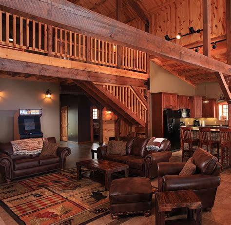post  beam barn home interior  houses