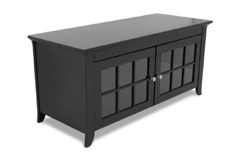 Black Tv Credenza - techcraft cre48b 48 inch wide flat panel tv credenza